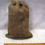 Small bag of dried manure